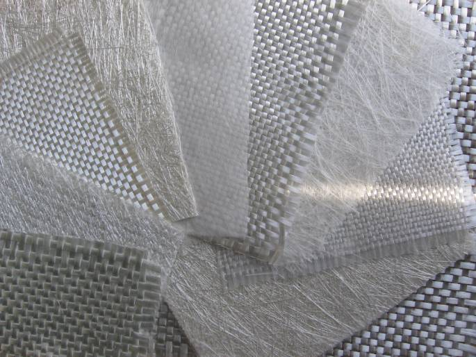 Fiberglass combo mats with different weave methods.